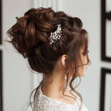 Свадебные причёски пучки