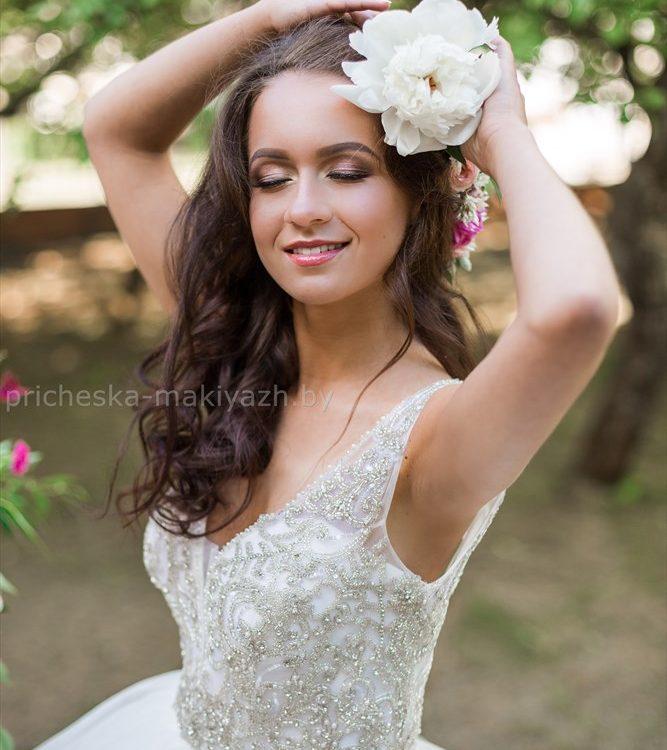 свадебный нежный макияж