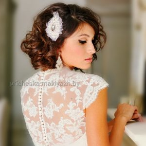 Свадебная причёска укладка на каре
