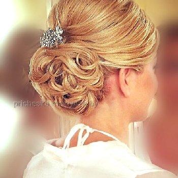 Свадебная причёска на средний волос каре