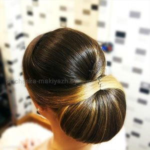 """Свадебная причёска на средний волос """"Бабетта"""""""