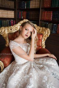 свадебный нежный макияж для блондинки